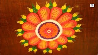 VERY SIMPLE RANGOLI FOR DIWALI    maitrin 2018