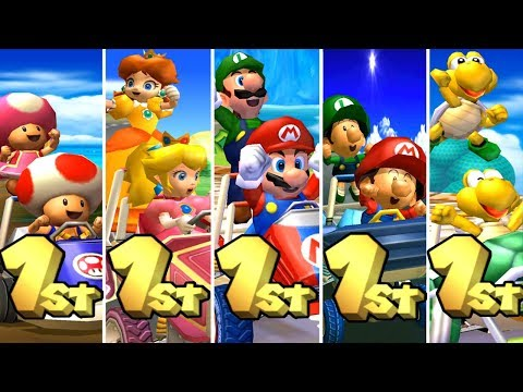 Mario Kart: Double Dash!! - All Characters Winning Animations