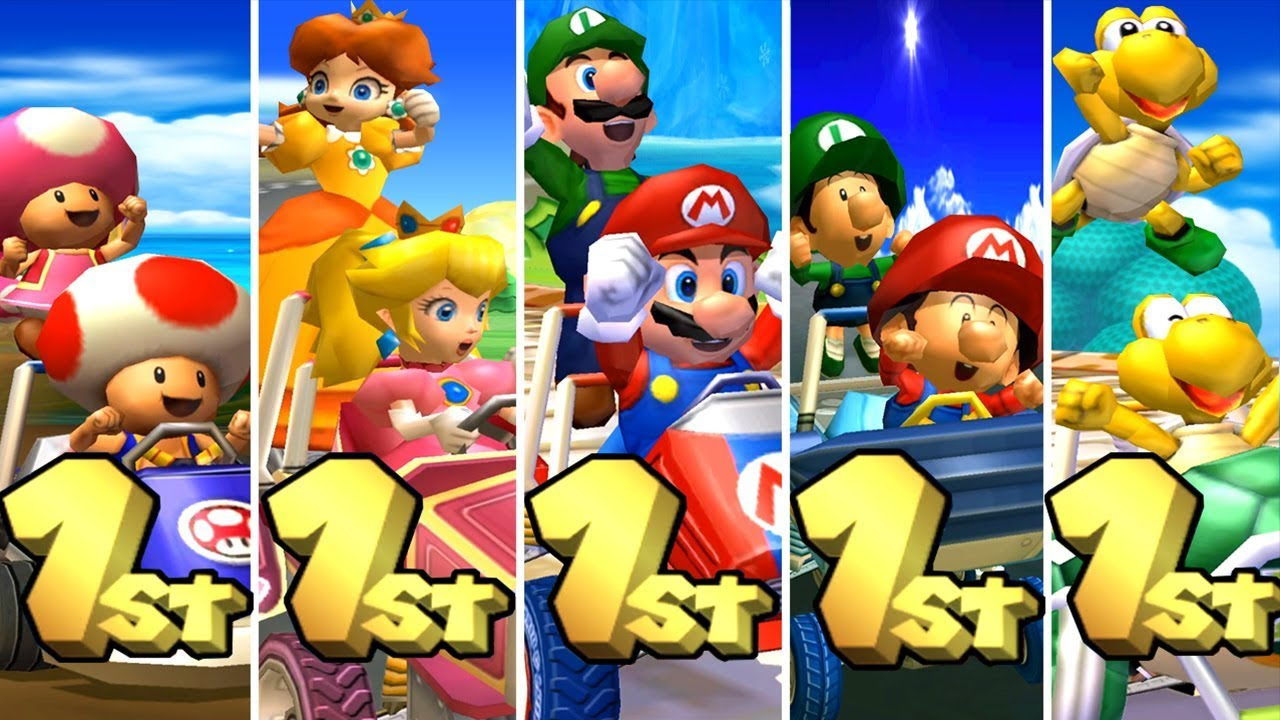 Mario Kart Double Dash All Characters Winning Animations