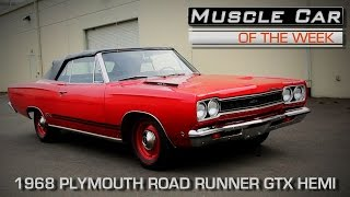 1968 Plymouth GTX 426 Hemi Convertible Muscle Car Of The Week Video Episode #203