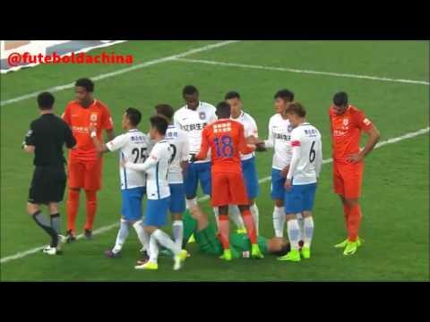 Shandong Luneng 2x0 Tianjing TEDA - Graziano Pelle, Cisse, Gil, Obi Mikel... first match csl 2017