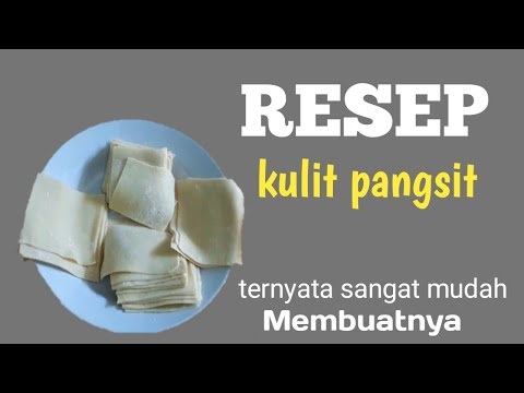 Cara membuat kulit pangsit dengan mudah