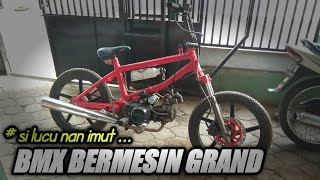 Bmx Cub With The Honda Grand Engine Youtube