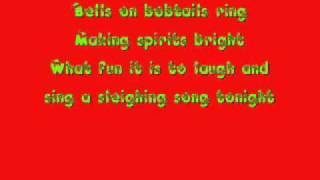 Glee Cast Jingle Bells Lyrics wmv