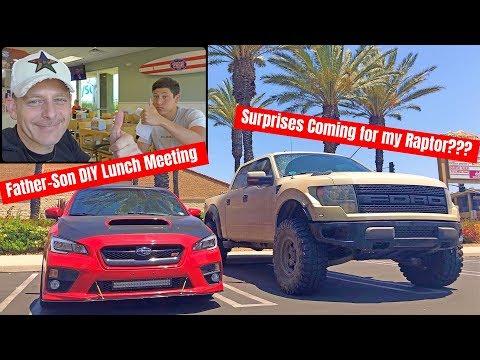 フォードラプターdiy改造計画を息子とアメリカの巨大サンドイッチを食べながら話し合い!-そしてpovオリジナルtシャツの製造工程を見学!-big-plans-for-my-ford-raptor