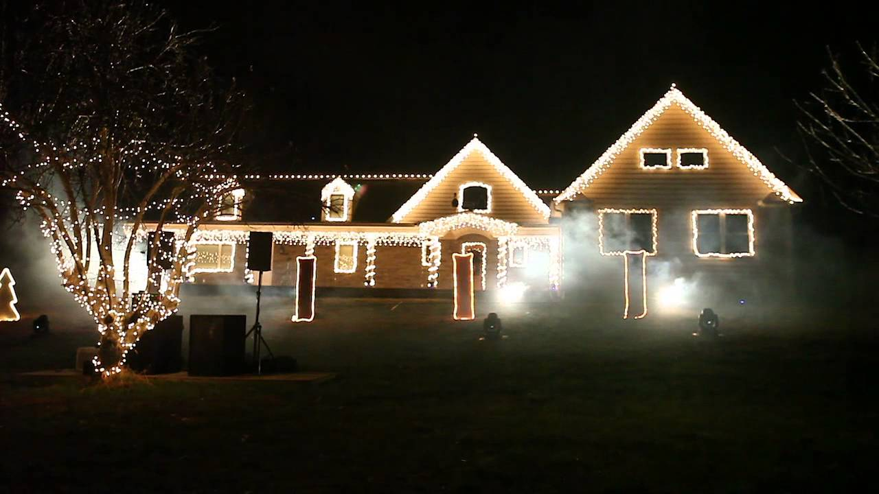 Christmas light show in Wall Township - YouTube