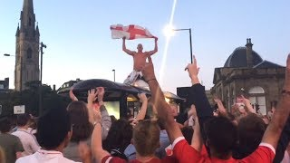 England Fans Celebrate Around The World To Win Against Colombia - Russia 2018 World Cup