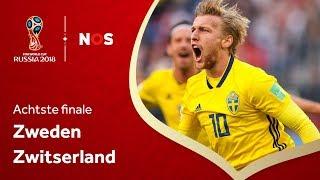 WK Voetbal 2018: Samenvatting Zweden - Zwitserland (1-0)