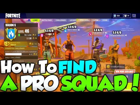 How To Find PRO TEAMATES In Fortnite! WIN EVERY GAME! - FIND THE PERFECT SQUAD!