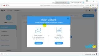 וויקס (wix video) - איך לייבא לקוחות ואנשי קשר לחשבון וויקס