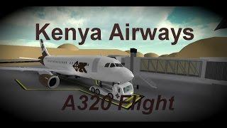 ROBLOX - Kenya Airways A320 Flight