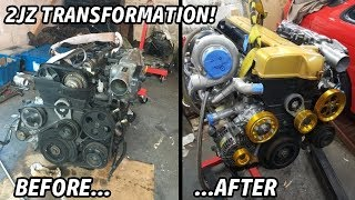 BUILDING A 700HP SINGLE TURBO 2JZ IN 5 MINUTES!