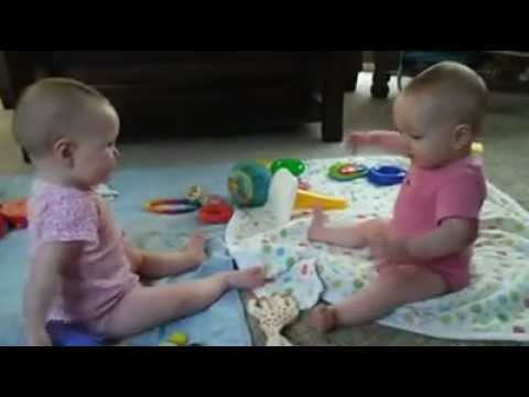 9 Month Old Twins Playing Keep Away