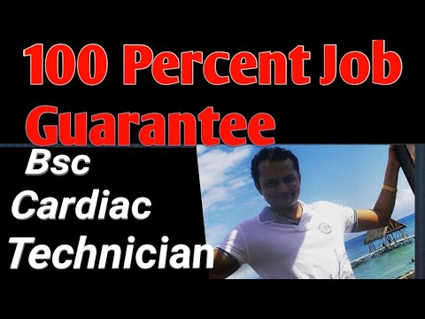 Bsc Cardiac Technician  100 Percent Job Guarantee   salary 30000 to 1 5  lakh per month PCB Student