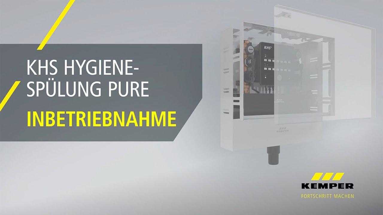 Youtube Video: Inbetriebnahme KHS Hygienespülung PURE