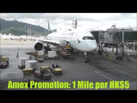 Cathay Pacific American Express Promotion, 1 Asia Mile Per HK$5 Spend - Aug 2019