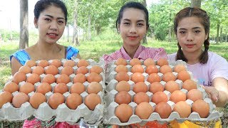 Yummy cooking eggs chicken grilled recipe  Cooking skill