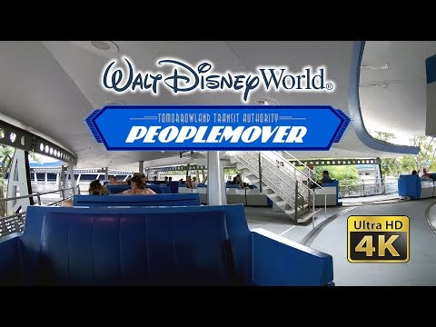 2018 Walt Disney World PeopleMover Ultra HD 4k POV 60 fps with Lights on Space Mountain