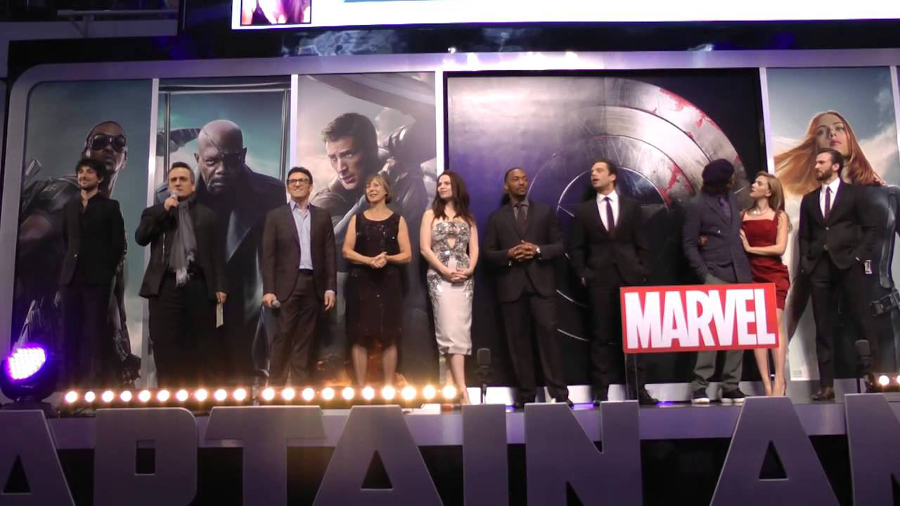 Captain America The Winter Soldier Premiere Cast Lineup