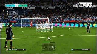 PES 2018 | CELTA DA VIGO vs REAL MADRID | Gameplay PC