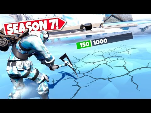 *NEW* BREAKING THROUGH SECRET *ICE BLOCKS* IN FORTNITE SEASON 7! LOCATION UPDATE!: BR