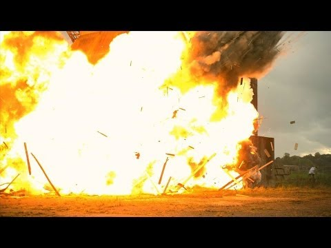 Huge Building Explosion at 2500fps The Slow Mo Guys