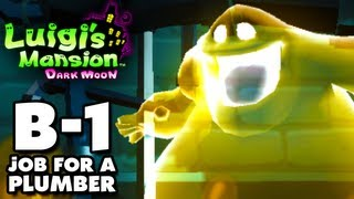 Luigi's Mansion Dark Moon - Haunted Towers - B-1 A Job for a Plumber (Nintendo 3DS Walkthrough)