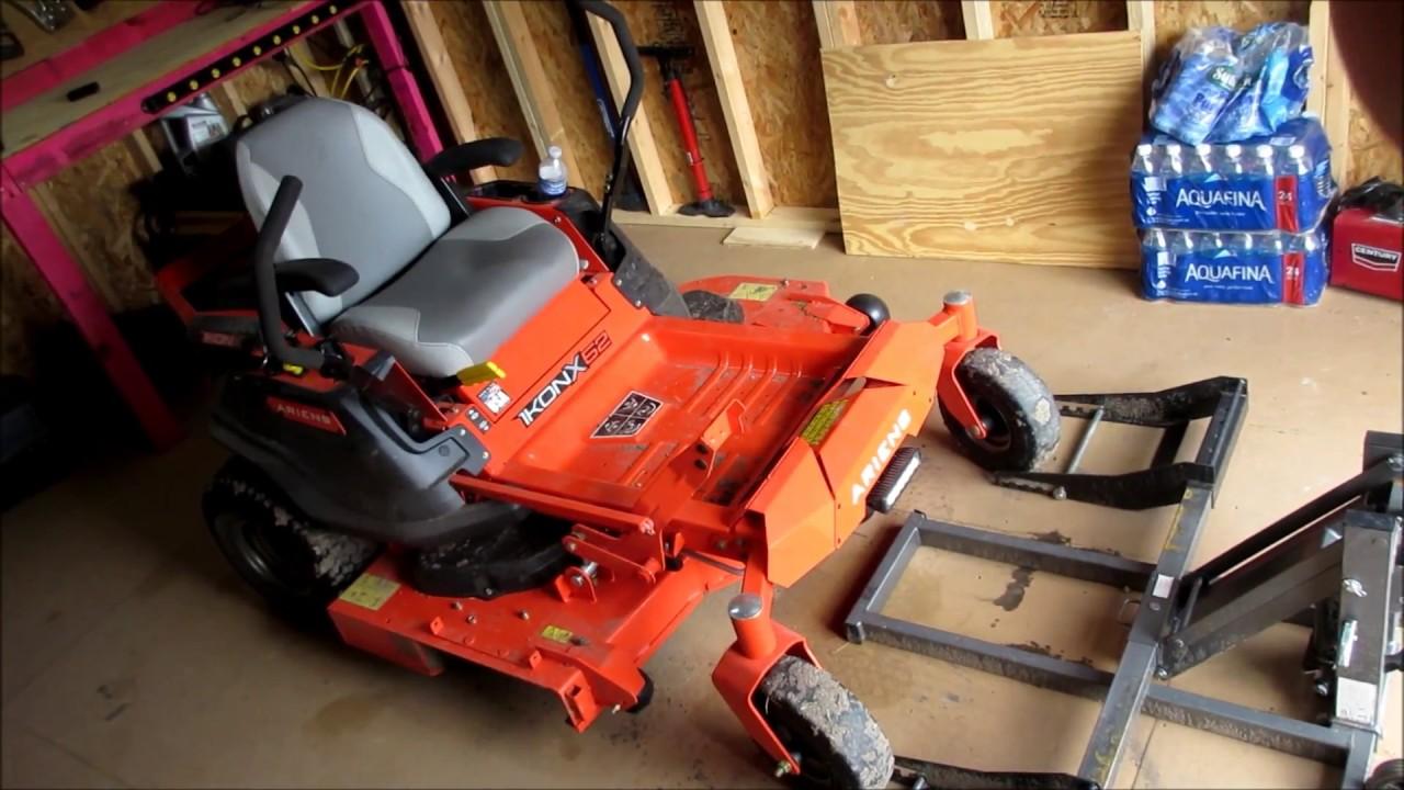 Changing Zero Turn Mower Blades on ariens Ikonx52