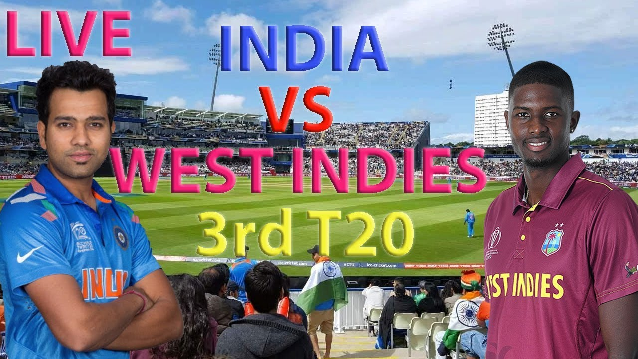 Live Cricket Score - West Indies vs India, 3rd T20I, Guyana
