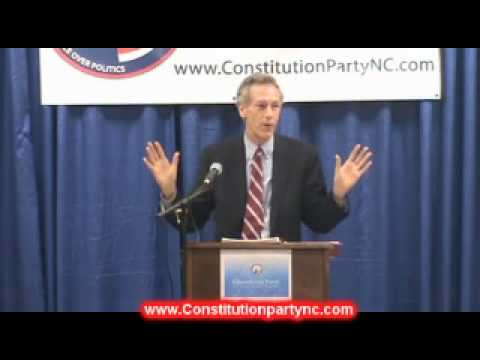 Virgil Goode At  The 2011  Constitution Party of NC State Convention