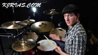 Drum Fills: 6 Stroke Roll/ Kick Pause - With KJ-Rias