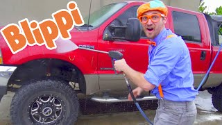 Blippi Visits a Car Wash | Learning Vehicles For Toddlers | Educational Videos For Kids