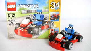 Lego Creator Red Go-kart From Lego