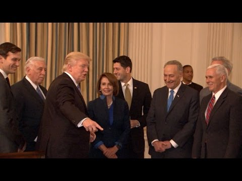 Trump meets with congressional leaders