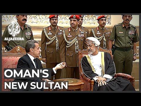 Oman's New Leader Receives Dignitaries
