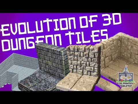 photograph about Printable Dungeon Tiles named The Evolution of 3D Released Dungeon Tiles - YouTube