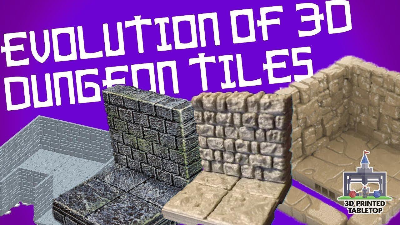 graphic relating to 3d Printable Dungeon Tiles identified as The Evolution of 3D Released Dungeon Tiles