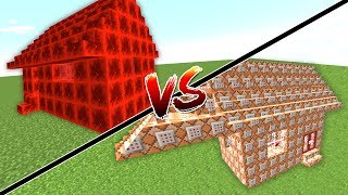 KOMUT BLOĞU EV VS REDSTONE EV! (Minecraft)