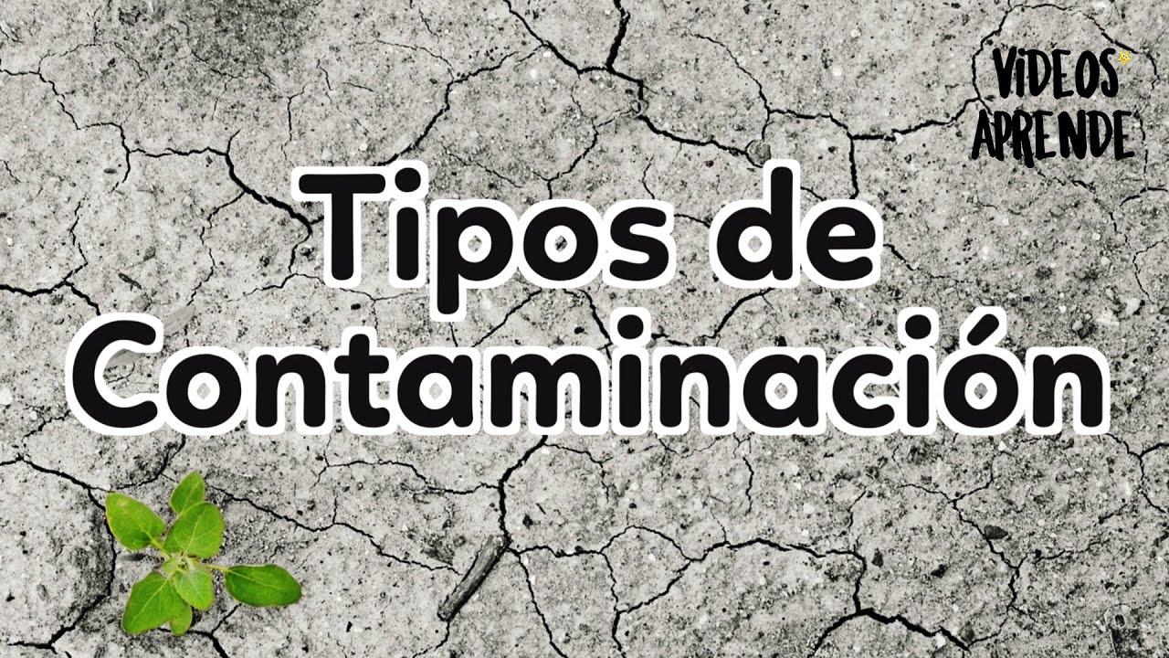 Contaminación y sus tipos - Videos Aprende