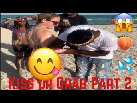 KISS OR GRAB PART 2 | SOUTH BEACH EDITION🌴| PUBLIC INTERVIEW 🍑😱😱💦💦