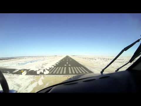 Landing King Air Churchill MB