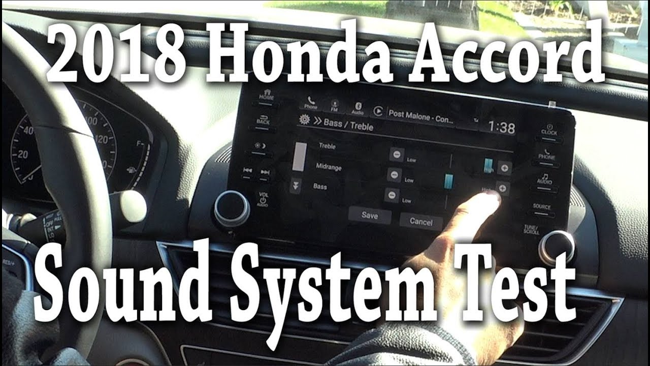 2018 Honda Accord Sound system Specs and test EX-L ...