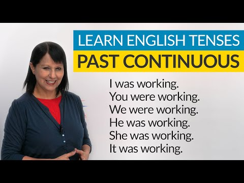 Learn English Tenses: PAST CONTINUOUS