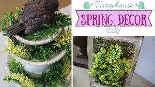 Farmhouse Spring Decor DIY