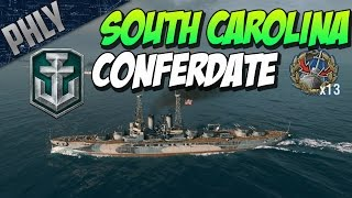 CONFEDERATE SOUTH CAROLINA! - World Of Warships Battleship Gameplay - STA ⚓ Ep.2