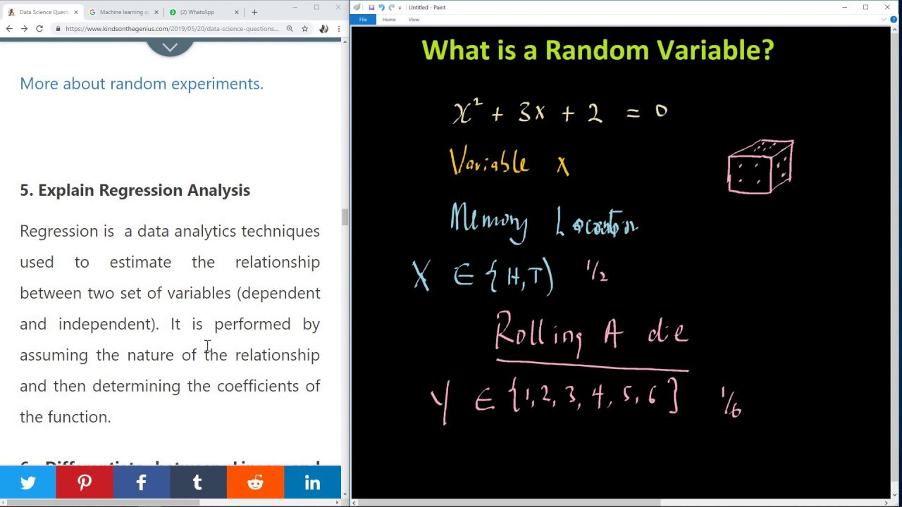 Question 4 - What is a Random Variable in Data Science