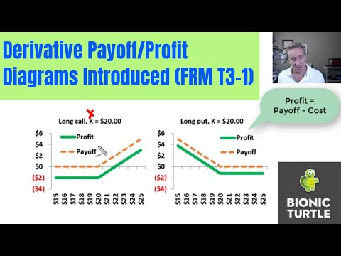 Derivative Payoff/Profit Diagrams Introduced (FRM T3-1)