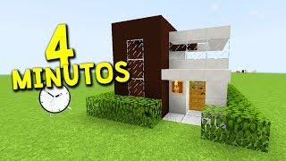 COMO CONSTRUIR UMA CASA MODERNA E BONITA EM 4 MINUTOS NO MINECRAFT ! (Modern House)