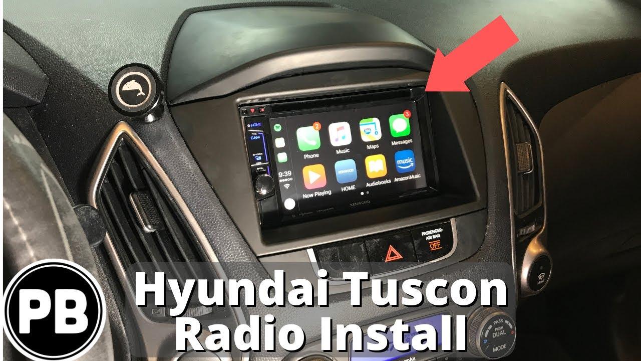 medium resolution of 2010 2015 hyundai tucson stereo install w apple carplay