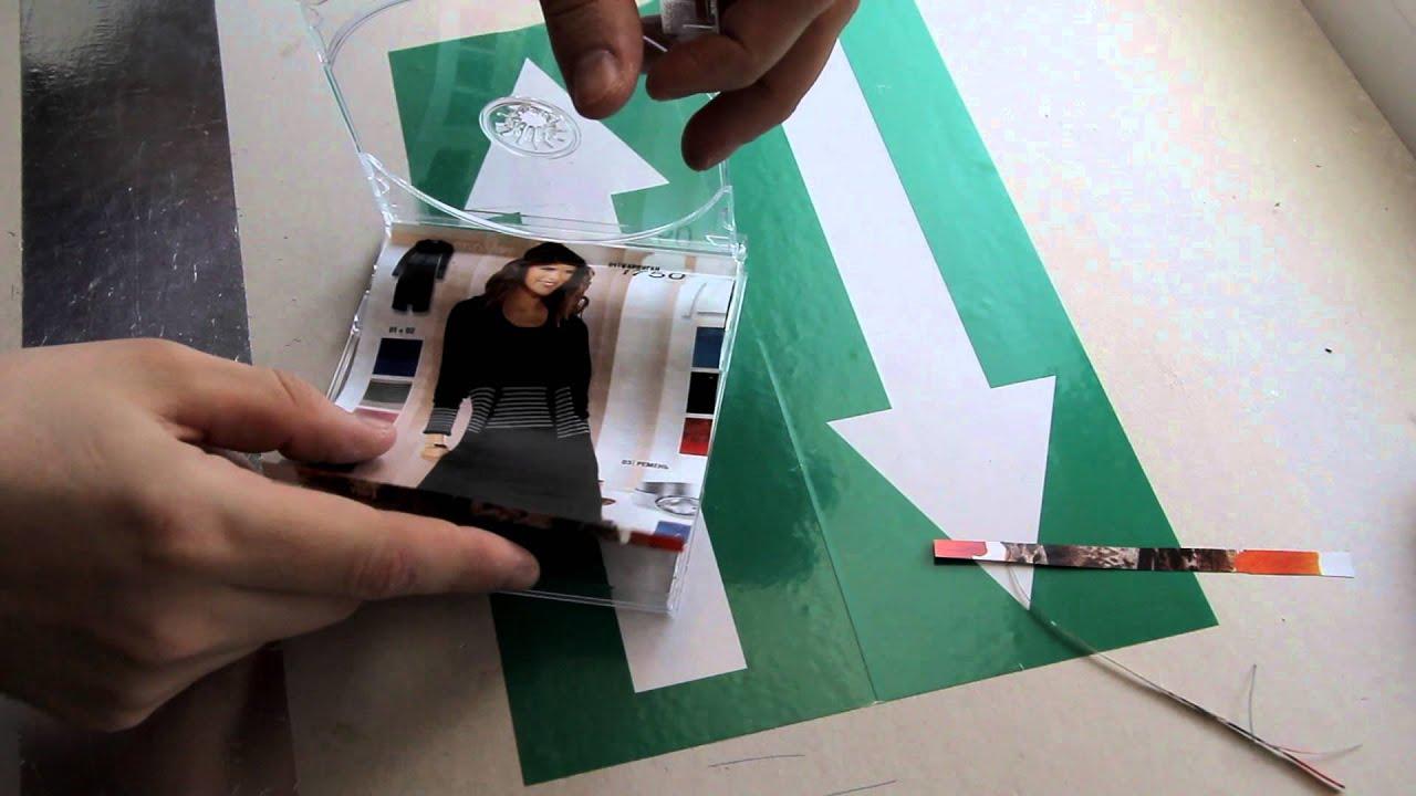 Фоторамка из коробки для дисков своими руками